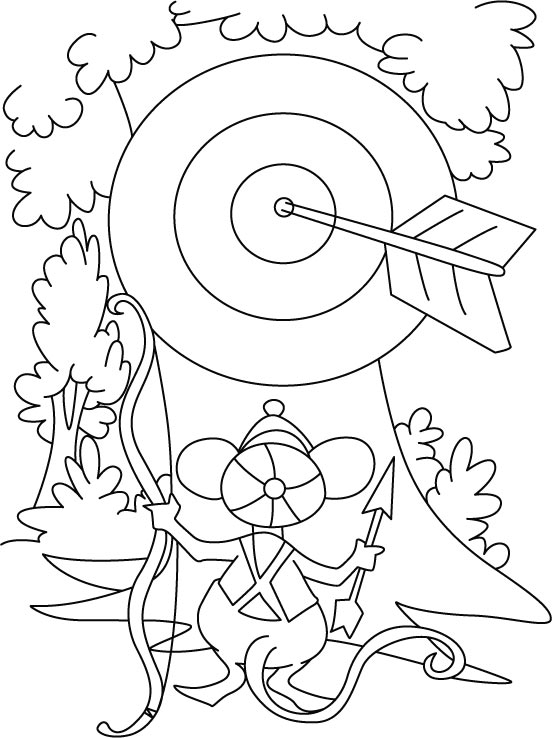 archery coloring page,printable,coloring pages