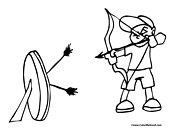 archery coloring pages 11,printable,coloring pages