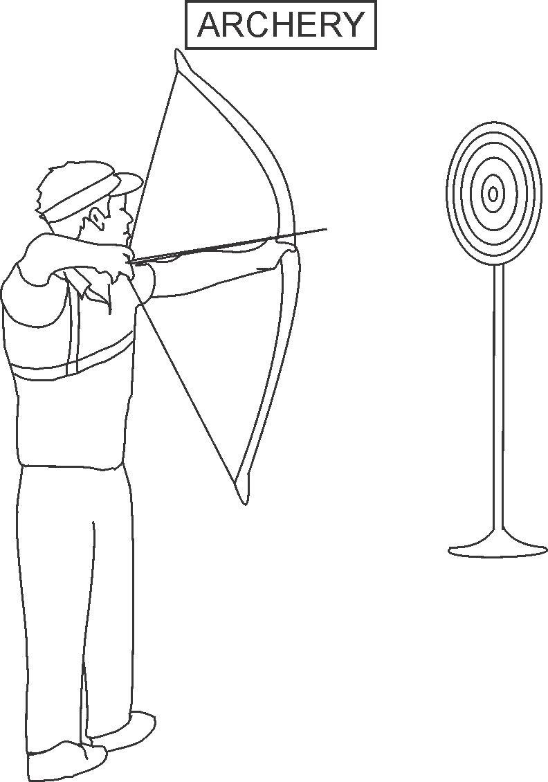 archery coloring pages 12,printable,coloring pages