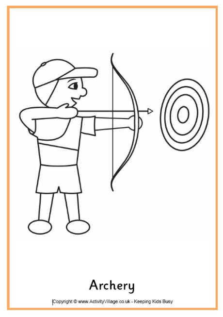 archery coloring pages 13,printable,coloring pages
