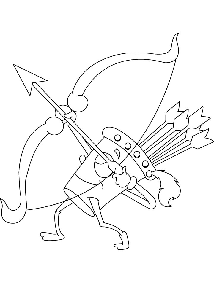 Target Bow And Arrow Coloring PageBowPrintable Coloring Pages