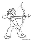 coloring pages of archery,printable,coloring pages