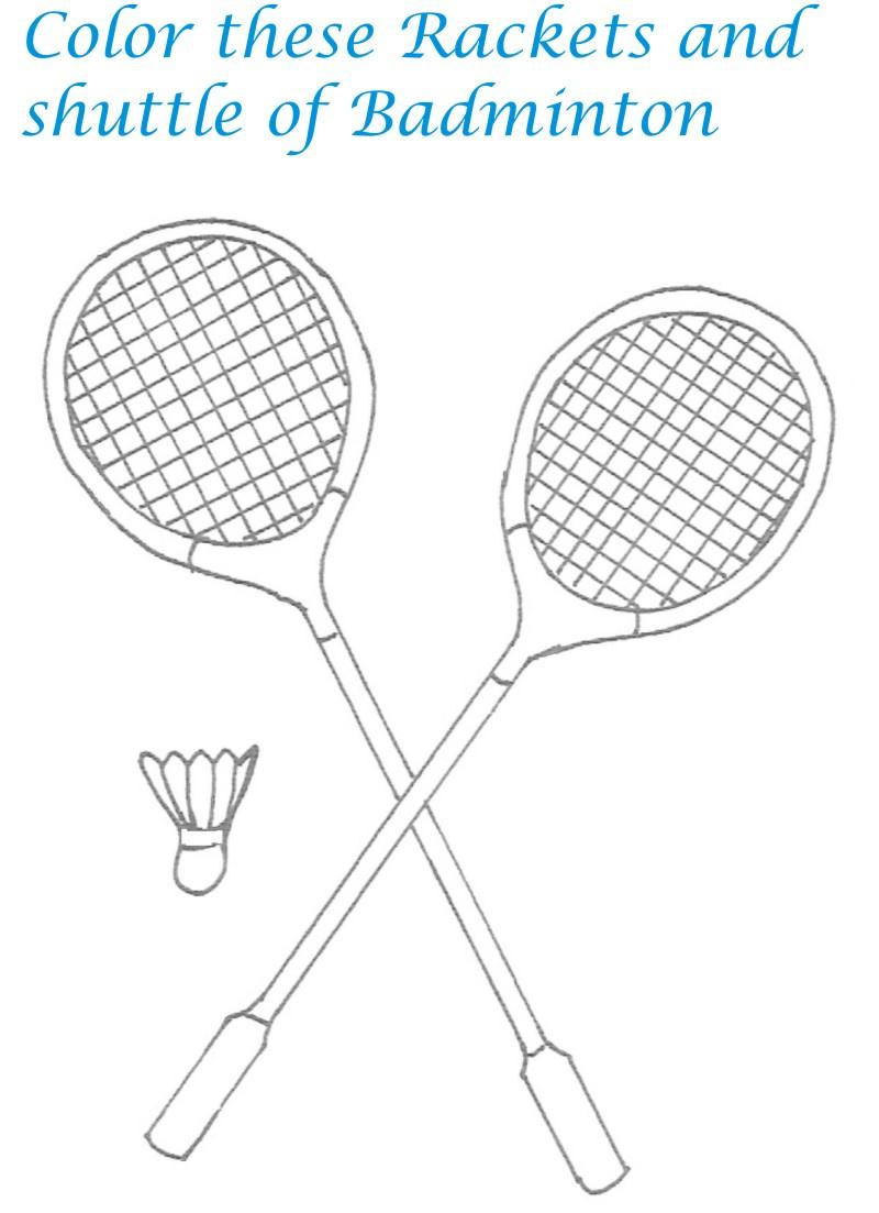 badminton coloring pages,printable,coloring pages
