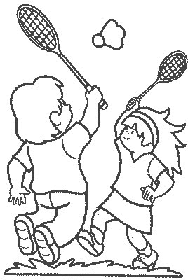 badminton coloring pages 11,printable,coloring pages