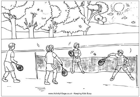 13 badminton coloring pages Print