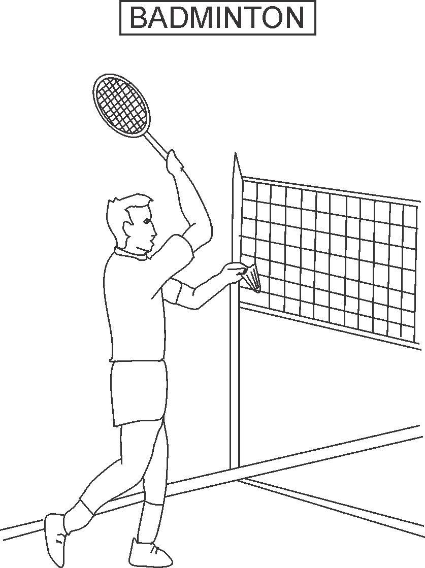 13 badminton coloring pages print color craft