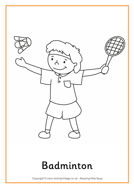 printable pictures of badminton page,printable,coloring pages