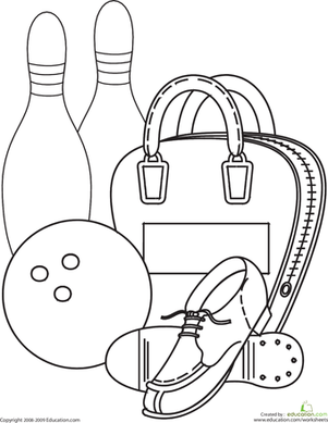 bowling coloring pages printable,printable,coloring pages