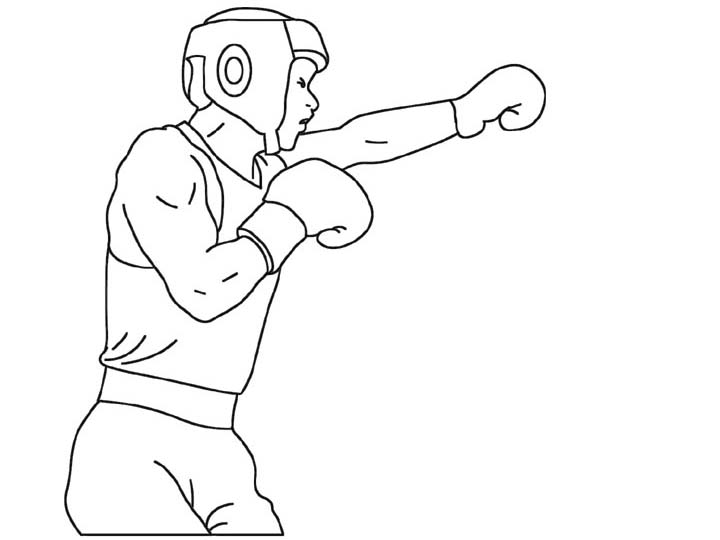 boxing coloring pages,printable,coloring pages