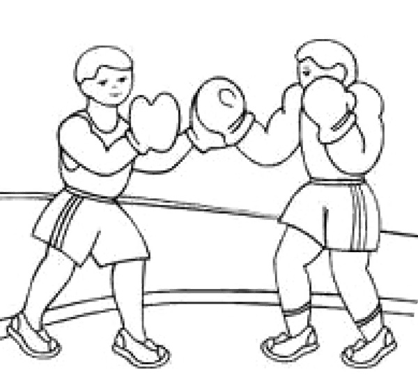 9 boxing coloring pages printable