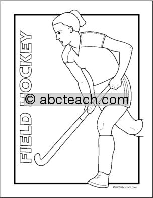 coloring pictures field-hockey,printable,coloring pages