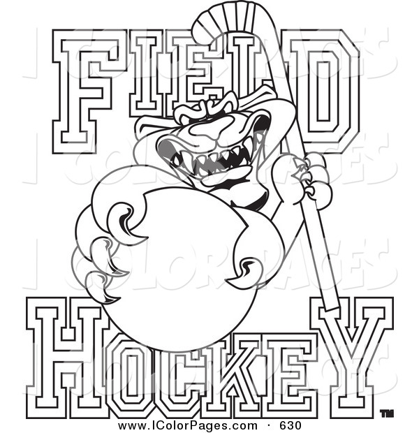 field hockey printable coloring pages - photo#7