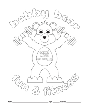 Physical exercise coloring pages | 379x300