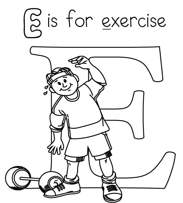 Fitness Coloring Pages Printable Coloring Coloring Pages