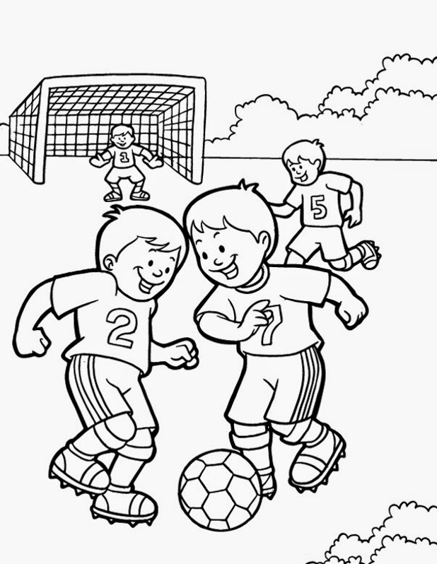 Preschool Fitness Coloring Pages 10 printable pictures of fitness ...