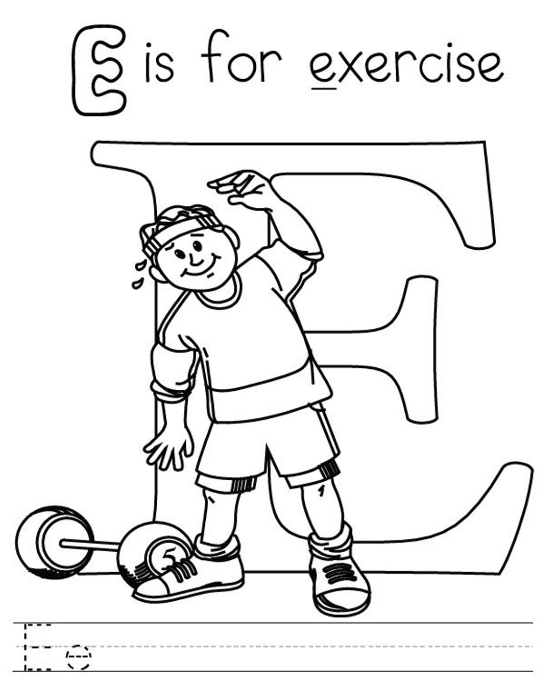 Printable Coloring Pages Exercise Pictures Of Fitness Page Print Color Craft