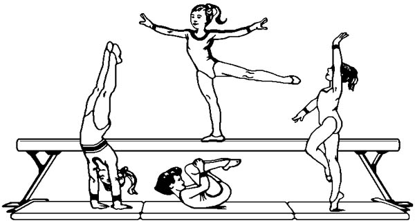 Gymnastics Bars Coloring Pages Sketch Coloring Page
