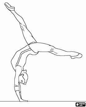 Gymnastics Coloring Pages 37 Printable Easy to Color Pictures ... | 346x280