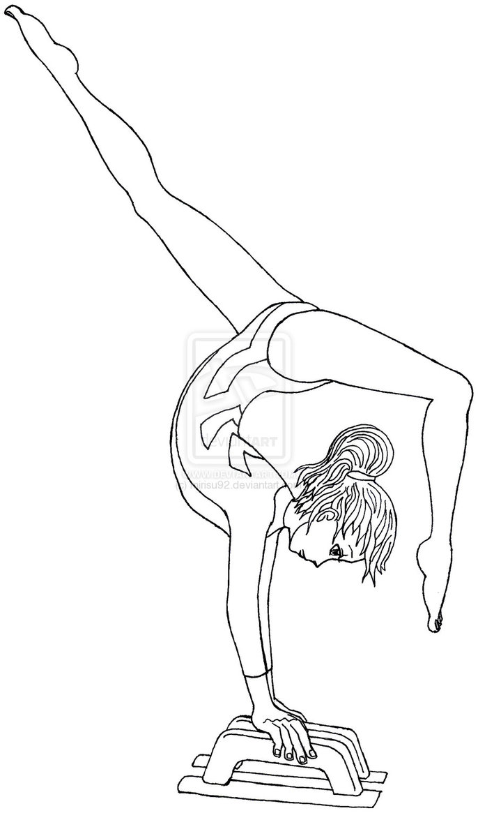 Gymnastics Coloring Pages 37 Printable Easy to Color ...