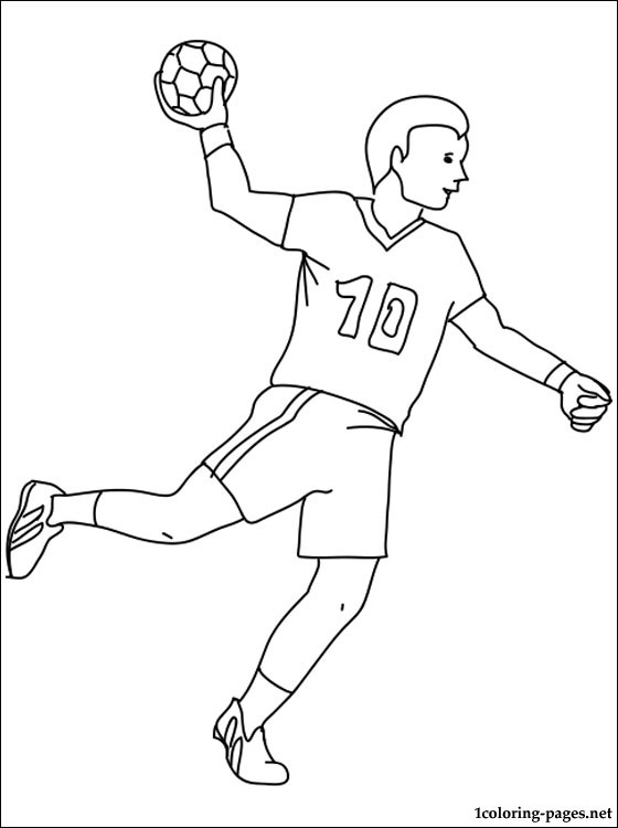 coloring pictures handball,printable,coloring pages