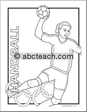 handball coloring page,printable,coloring pages