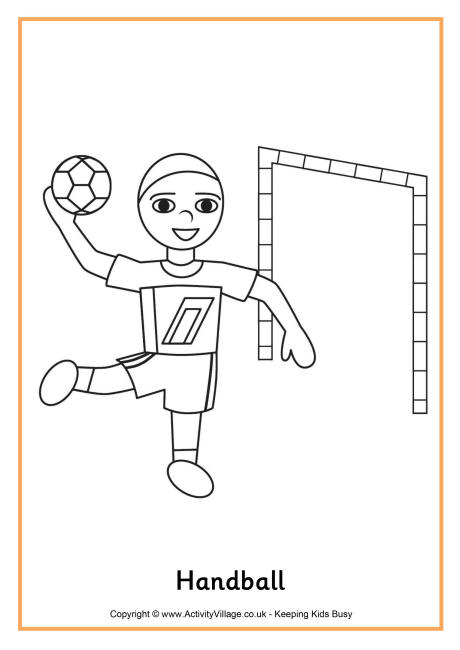 handball coloring pages for kids,printable,coloring pages