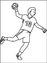 kids coloring pages handball,printable,coloring pages