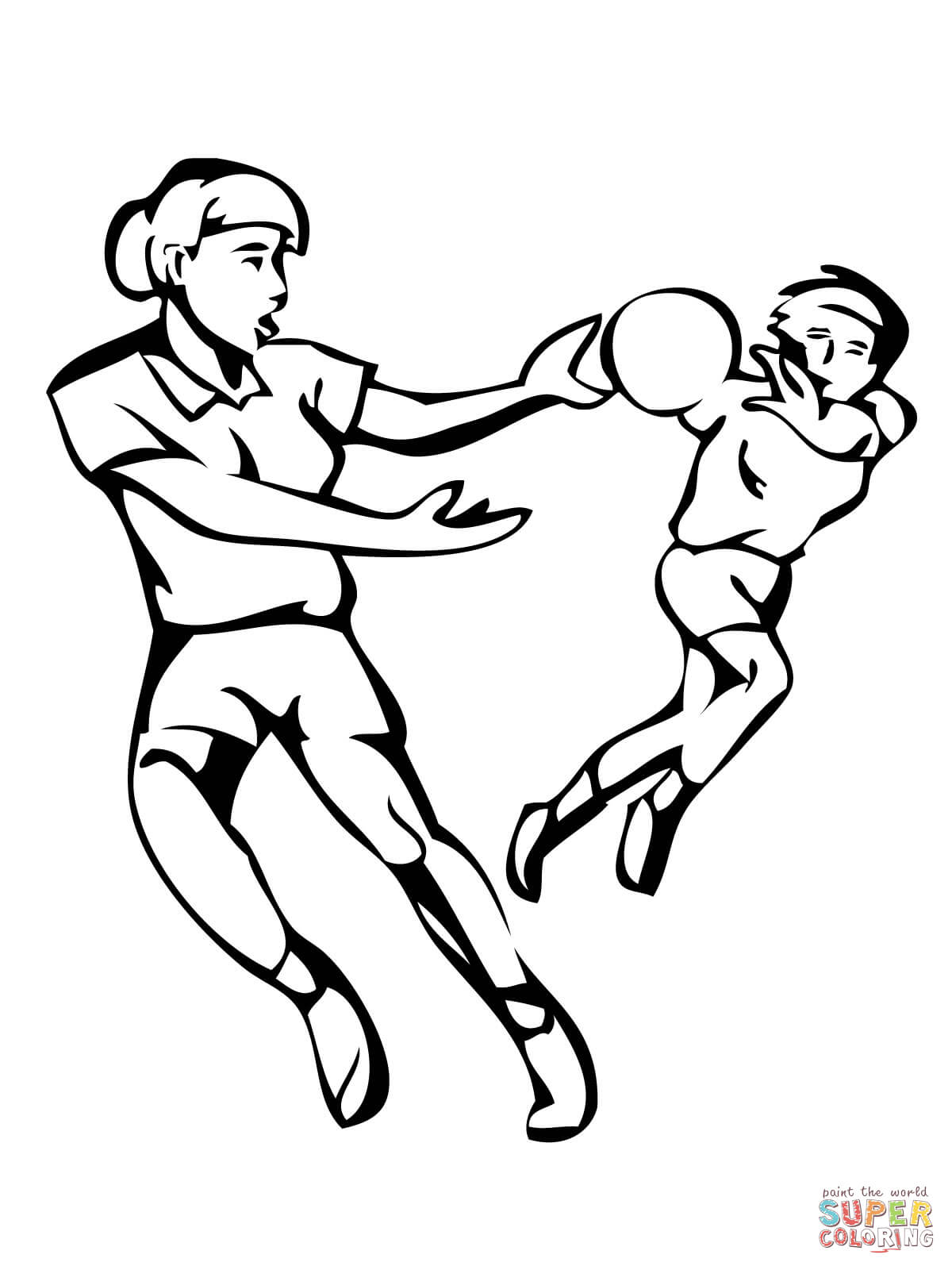 printable pictures of handball page,printable,coloring pages
