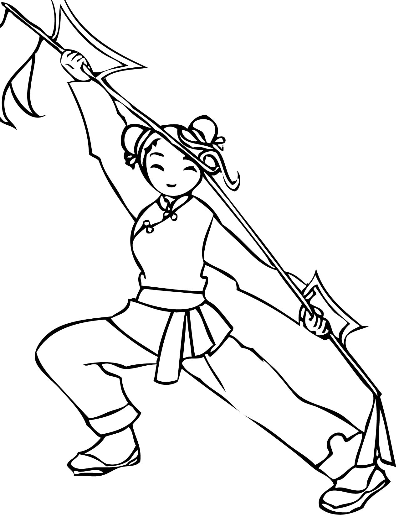Karate Printables Coloring Pages
