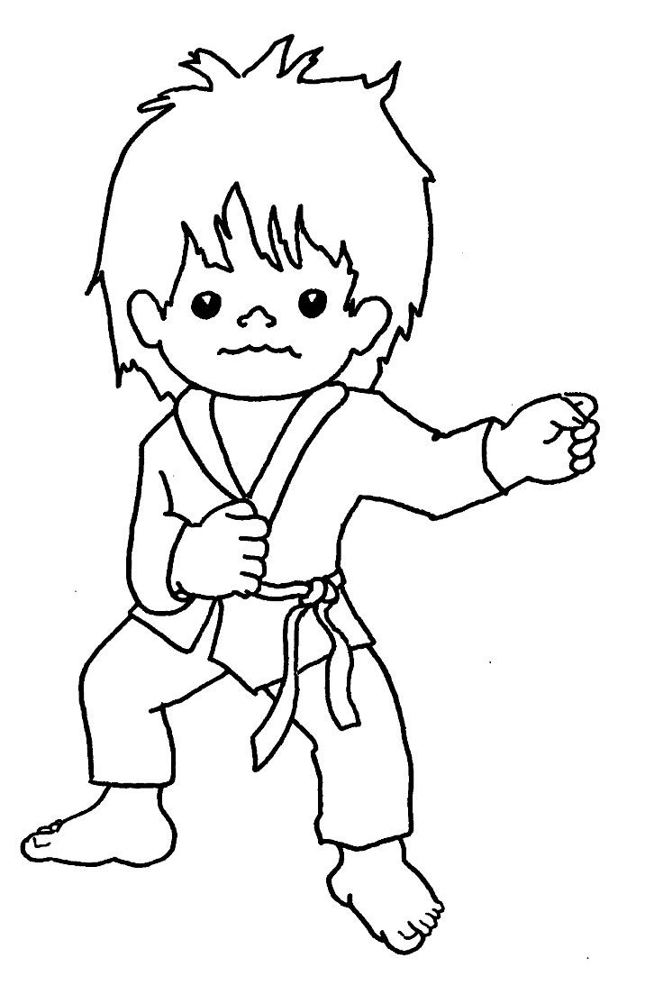 14 martial arts coloring pages Print Color Craft