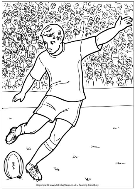 10 rugby coloring page