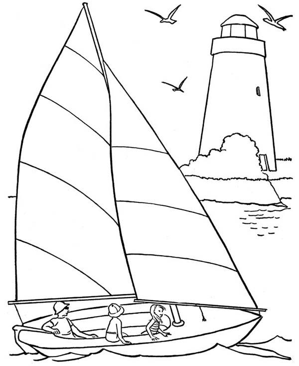 14 printable pictures of sailing page print color craft for Nautical coloring pages