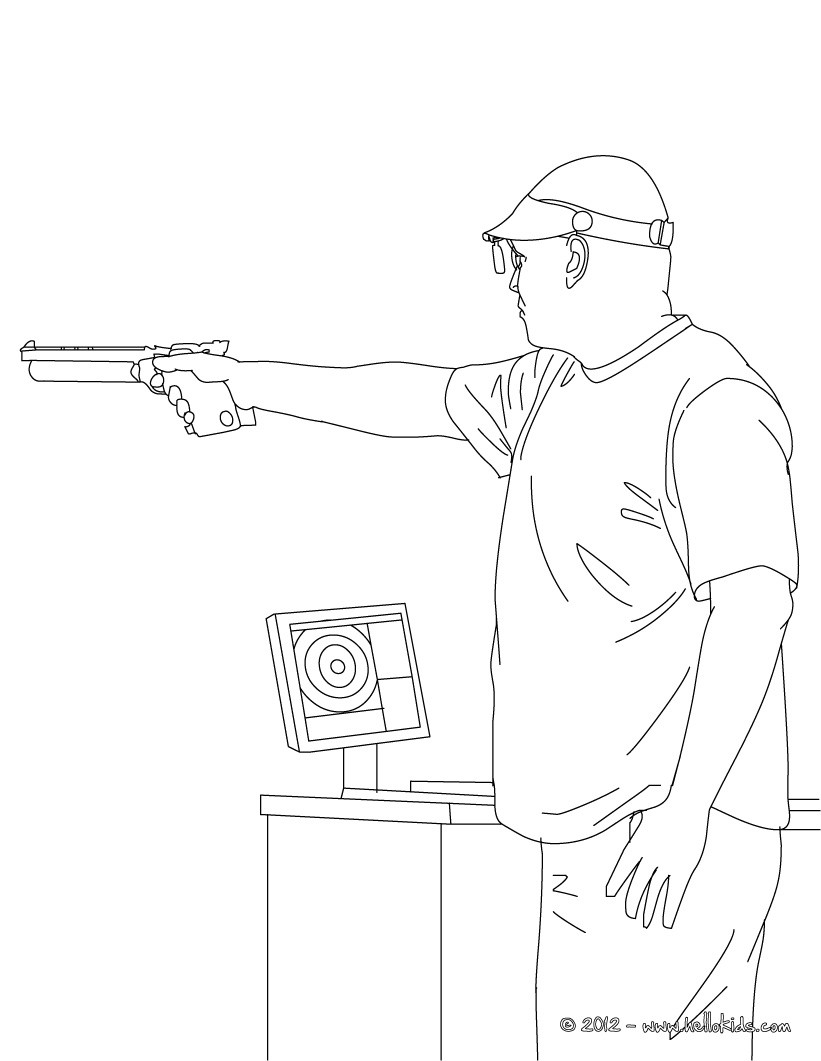printable pictures of shooting page,printable,coloring pages
