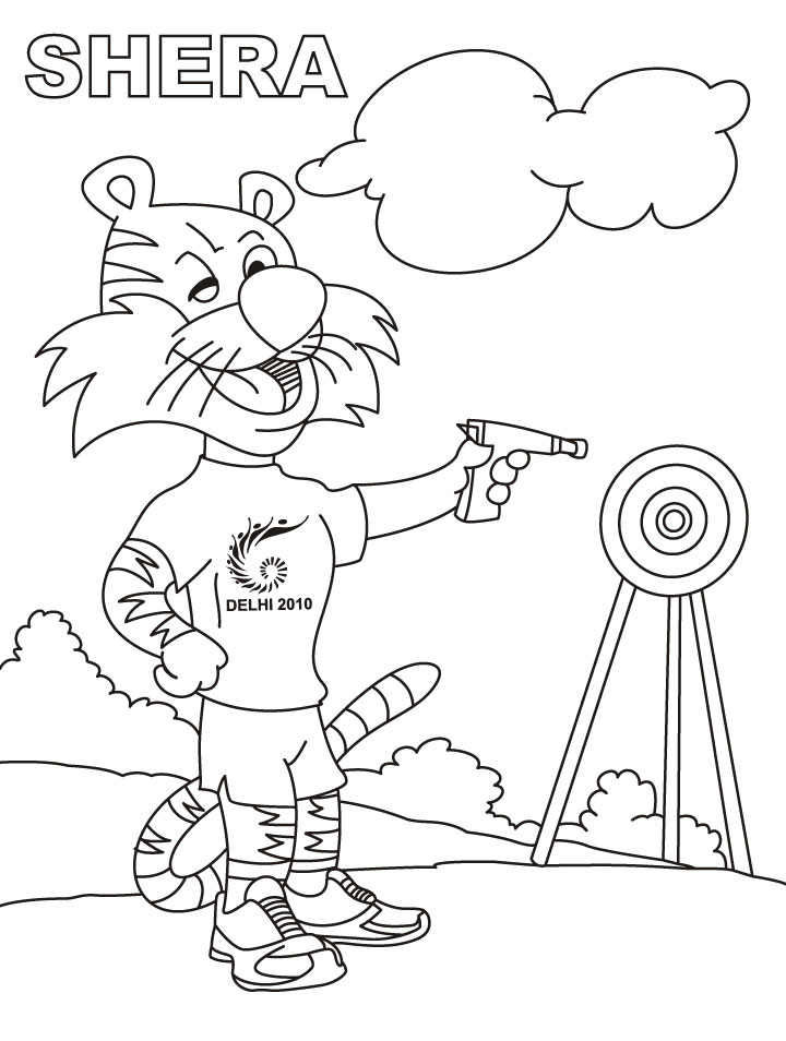 Shooting Target Coloring Page Coloring Pages