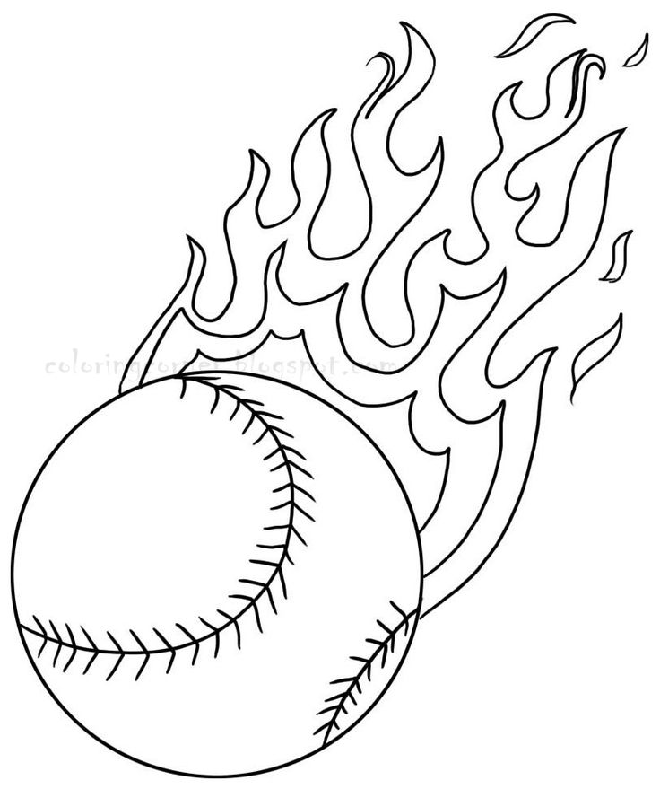 coloring pictures softballprintablecoloring pages
