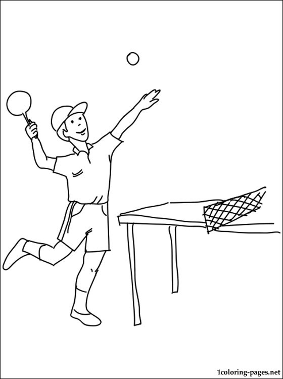 kids coloring pages table-tennis,printable,coloring pages