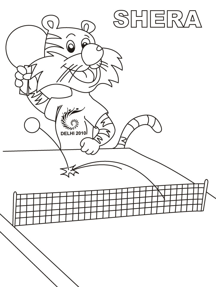 table-tennis coloring pages printable,printable,coloring pages