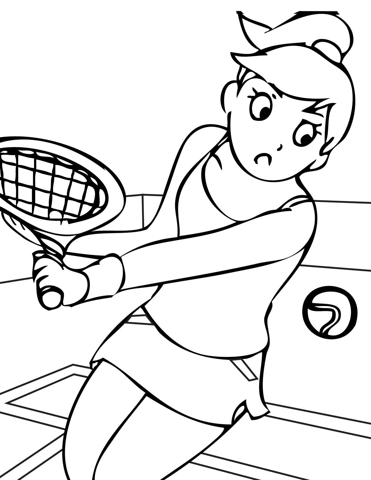 coloring pictures tennis,printable,coloring pages