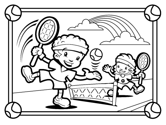23 tennis coloring pages for kids | Print Color Craft