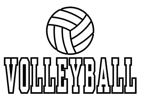 14 Coloring Pictures Volleyball