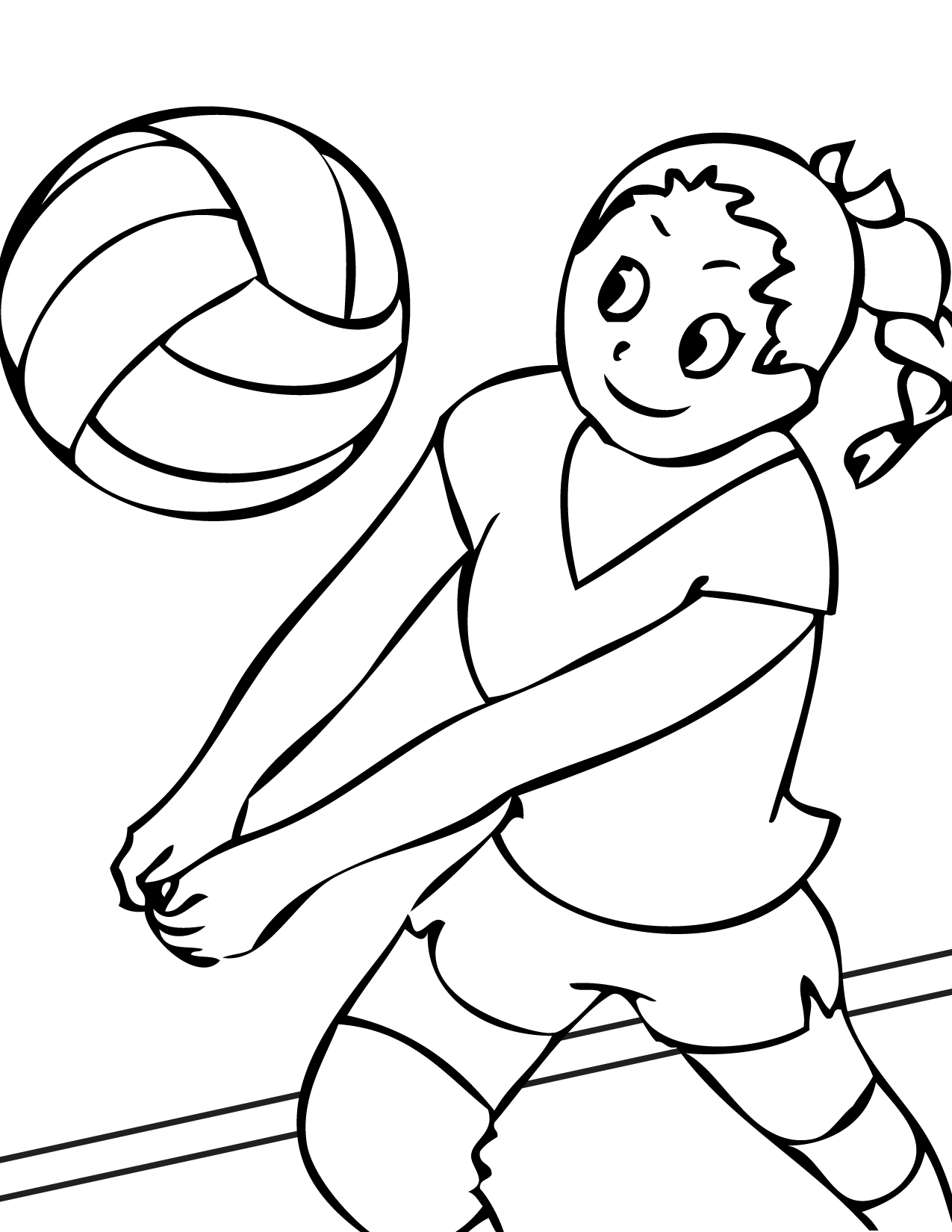 volleyball coloring page,printable,coloring pages