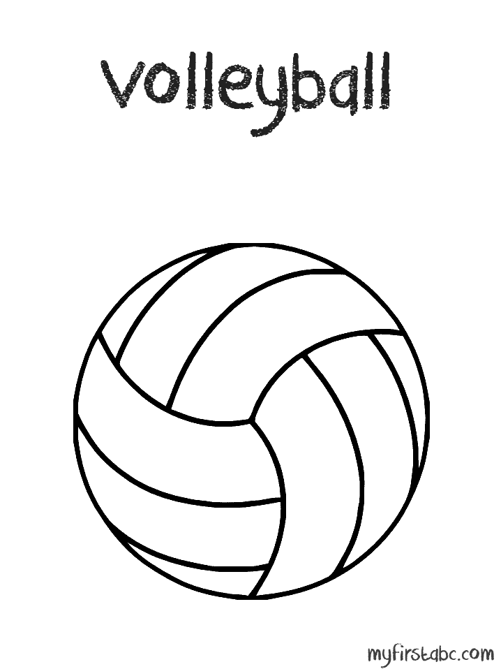 14 coloring pictures volleyball - Print Color Craft