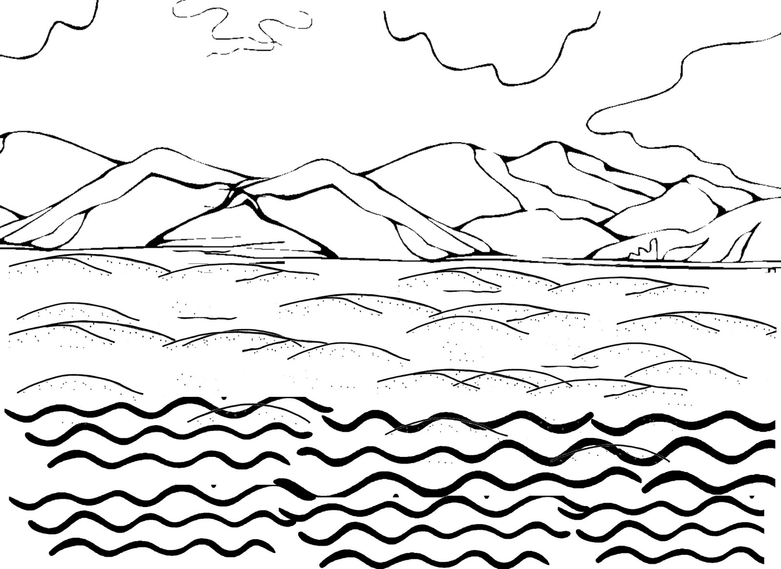 Ocean Water Coloring Pages Coloring Coloring Pages