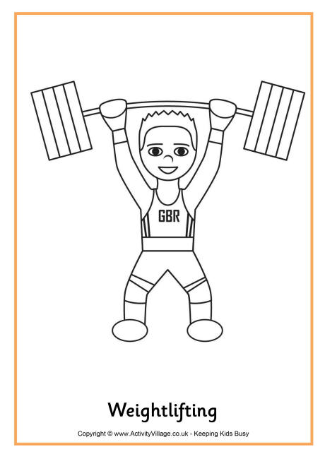 coloring pictures weight-lifting,printable,coloring pages