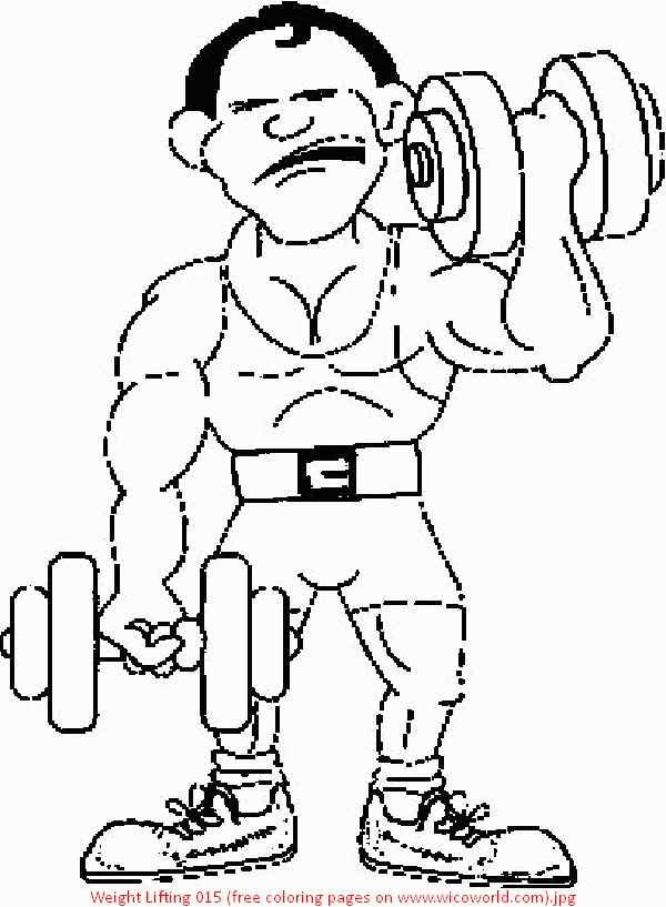 weight-lifting coloring pages,printable,coloring pages