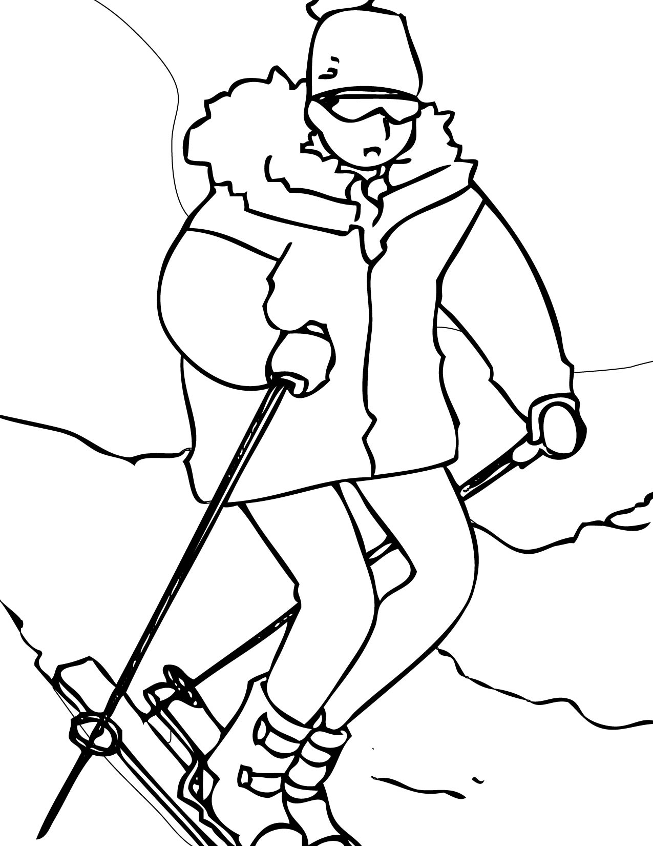 winter coloring pages print color craft