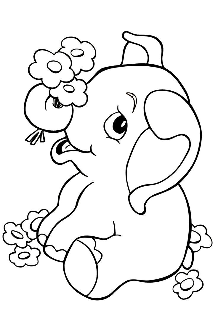 32 kids coloring pages baby print color craft Coloring book elephant