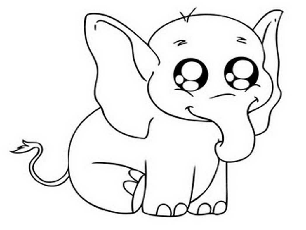 Hand Drawn Cute Baby Elephant Coloring Pages. Floral Pattern ... | 786x1048