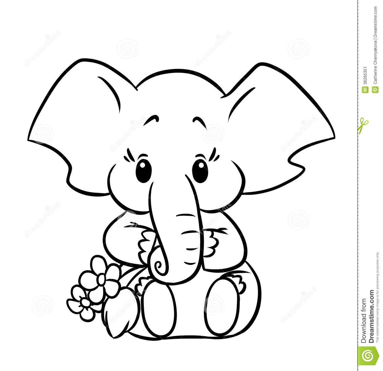 e elephant coloring pages - photo#44