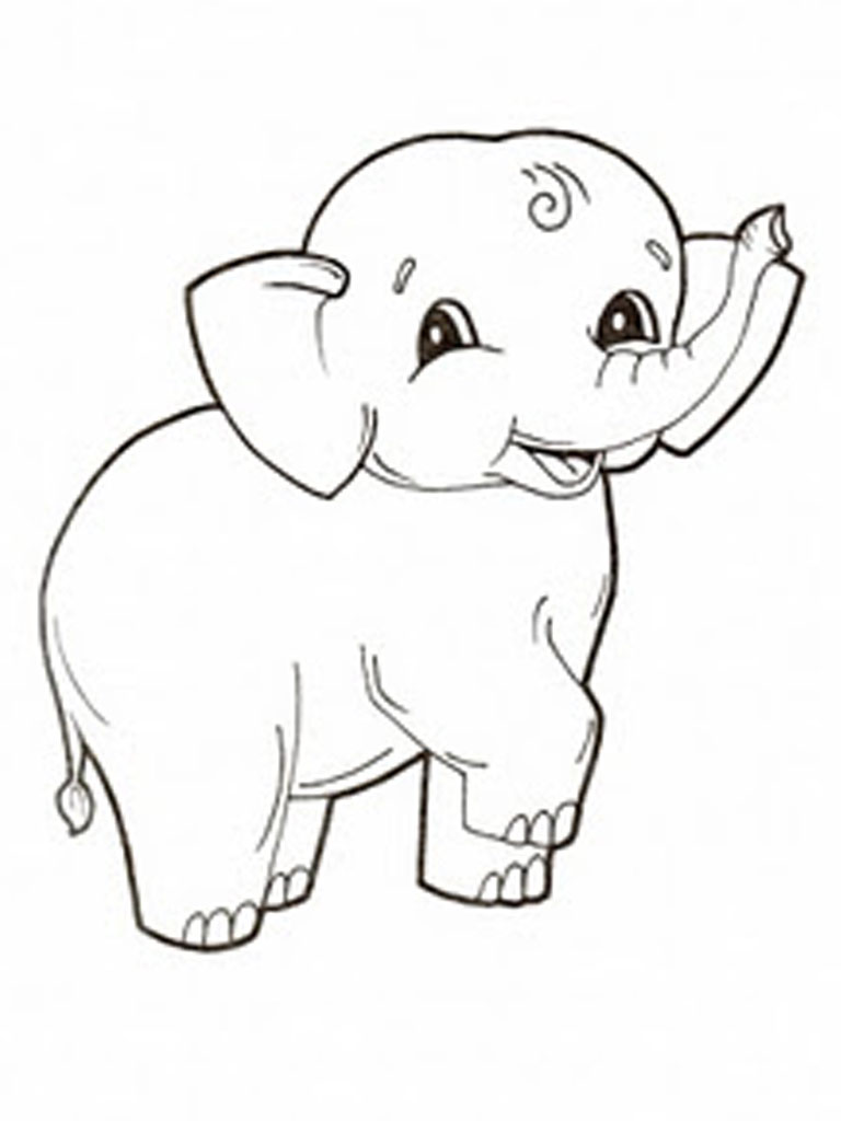 - 28 Elephant Coloring Page - Print Color Craft